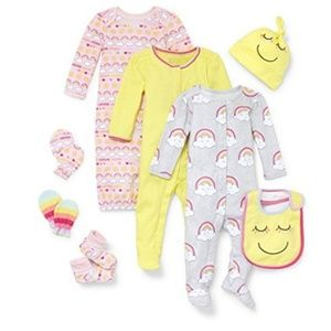 8pc baby bundle rainbow sunshine sleep set NWT tcp